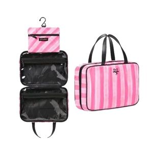 VICTORIA`S SECRET stripe travel case, cosmetic bag